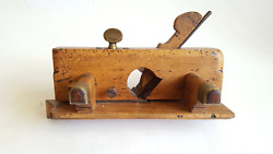 Vintage Greenslade Skew Wooden Plane W Fence And Single Boxing 40079