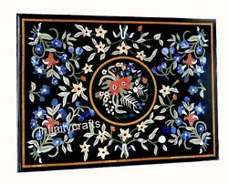 36 X 48 Inch Marble Dining Table Top Marquetry Art Hallway Table For Home Decor