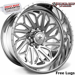 American Force Draco Ckh32 Concave Polished 30x16 Truck Wheel 8 Lug Set Of 4