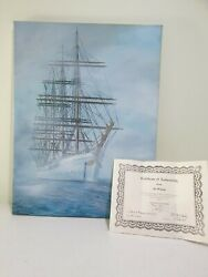 Vintage Art Mccarthy Limited Edition Oil On Canvas, Tall Sail