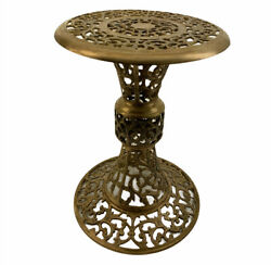 Vintage Victorian Ornate Chinese Articulated Heavy Brass Plant Stand End Table