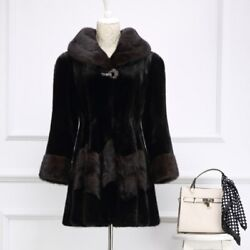 High Quality Luxury Hooded Mink Coat Real Natural Fur Coat Real Mink Winter Warm