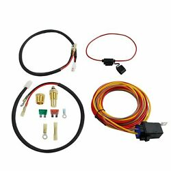 Dual Electric Fan Cooling Wiring Install Kit 165/185 Thermostat 40 Amp Relay