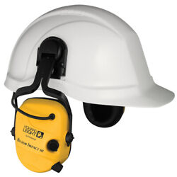Howard Leight Impact Electronic Earmuff On Cap Helmet Safety Hearing Protection