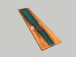 Beautiful Epoxy Resin Table Blue Epoxy Table Top Acacia Wooden Table Top Decor