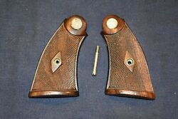 Smith And Wesson Pre-war K Frame Diamond Service Grips