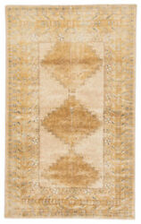 Jaipur Living Enfield Hand-knotted Medallion Gold/ Gray Area Rug 6and039x9and039