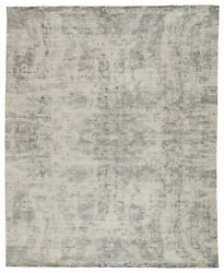 Jaipur Living Lizea Handmade Abstract Ivory/ Gray Area Rug 8and039x11and039