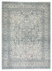 Jaipur Living Tulip Hand-knotted Medallion Blue/ Ivory Area Rug 8and039x11and039