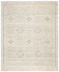 Jaipur Living Jadene Hand-knotted Geometric White/ Light Gray Area Rug 9and039x13and039