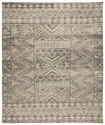 Jaipur Living Prentice Hand-knotted Geometric Dark Gray/ Taupe Area Rug 8and039x11and039