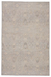 Jaipur Living Williamsburg Hand-knotted Trellis Gray/ Beige Area Rug 6and039x9and039