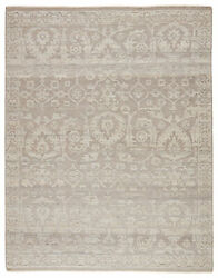 Jaipur Living Ayres Hand-knotted Floral Taupe/ Gray Area Rug 9and039x12and039
