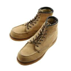 Red Wing Irish Setter Suede Boots Crepe Sole 90s Vintage Beige Menand039s Shoes 7.5e