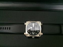 Bell And Ross Br 01-92 Steel Rubber Steel Watch