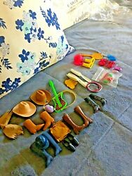 Vintage Barbie Ken Hats Boots Guitar Shoes And More Items See Photos Below Misc.