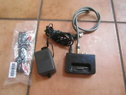 Black Denon Asd-1r Dock Station Charger For 30 Pin Ipod W/cord And Cables - Works