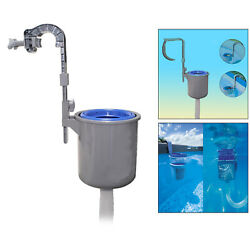 Swimming Pool Wall Mount Surface Skimmer Automatic Basket Floating Leaves Debris