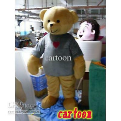 Adult Best Sale Lovely High Quality Lovely Funny Bear Mascot Costume Christmas @