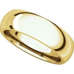 24k Yellow Gold 6mm Domed Comfort Fit Wedding Band