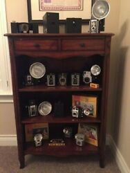 Reduced Exceptional Collection Of Kodak Vintage Brownie Cameras And Cabinet