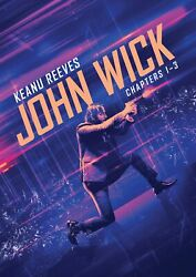 John Wick 3-film Collection Dvd Keanu Reeves New
