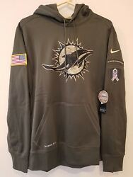 Miami Dolphins Nike 2015 Salute To Service Hoodie 3xl -- Awesome