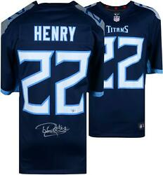 Derrick Henry Tennessee Titans Autographed Navy Nike Game Jersey