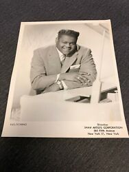 1960s Fats Domino Genuine Hand Signed Autograph Photo New Orleans Jazz Fest