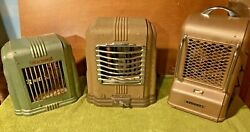 3 Antique Art Deco Mcm Space Heaters 2 Arvin And 1 Kenmore Great For Home Dandeacutecor