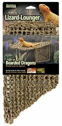 Reptile Lizard Lounger Natural For Anoles Bearded Dragons X Large Hammock