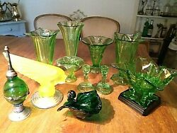 Scarce Uranium And Green Glassware Objects