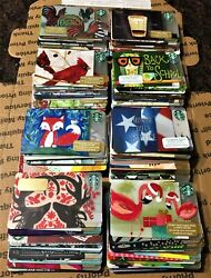 Huge Lot 200 New Starbucks Gift Cards 200 Designs Great Collection Deal Mint
