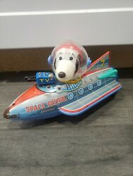1960s Snoopy Space Patrol Robot Battery Toy Modern Toys Japan Rare Works