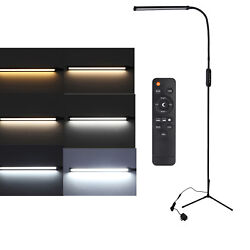 12w Led Dimmable Floor Lamp Light Standing Craft Reading Lamps With Remote