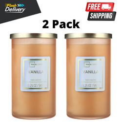 2 Pack Vanilla Scented Single-wick Frosted Jar Candle 19.25 Oz Free Shipping