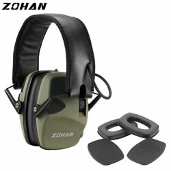 Tactical Earmuff With Replacement Ear Pads Noise Cancelling Electronic Shooting