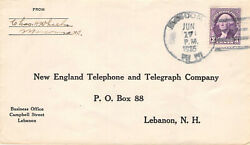 New England Telephone And Telegraph Cool Crazy Cancel Postal History