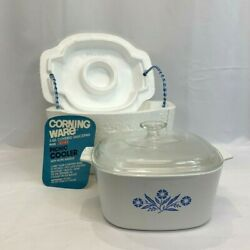 1977 Corning Ware 3 Quart Picnic Cooler Without Number Cornflower A-3