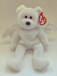 1998 Beanie Baby Andldquohaloandrdquo. Bear Very Rare Collectors Bear- Brown Nose And Tag Errors