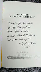 John Titor A Time Traveler's Tale, Single Seven, Art Bell Inscribed By Mother