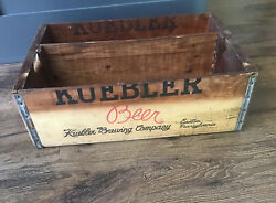 Kuebler Brewing Co Easton Pa Wood Crate Beer Bottle Brewery Sign Free Ship