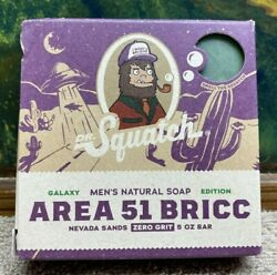 Dr Squatch New Area 51 Bricc Authentic Handcrafted Ultra Rare Bar Soap Sold Out