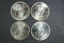 4 Vintage Englehard American Prospectors .999 Silver - All Different - Group 2
