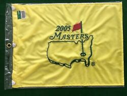 Scarce 2005 Masters Golf Tournament Pin Flag Augusta National Tiger Woods
