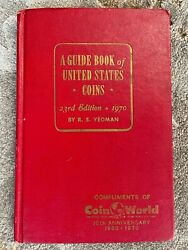 1970 Us Coins Red Book - Coin World 10th Anniv. Limited Edition By R S Yeoman