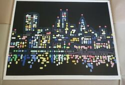 Yoon Hyup Thames Lights Limited Edition Artist Proof /12 Screen Print Very Rare