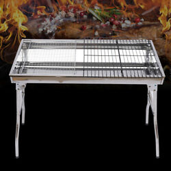 Foldable Tripod Barbecue Bbq Grill Charcoal Stove Kabob Camping Cooker Φ0.75