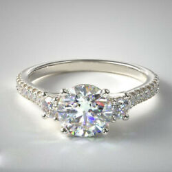 950 Platinum Round Cut Solitaire 1.10 Ct Real Diamond Engagement Ring Size 7 8 9