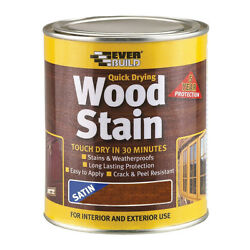 Everbuild Wood Stain 250ml Indoor And Outdoor Quick Drying All Colours